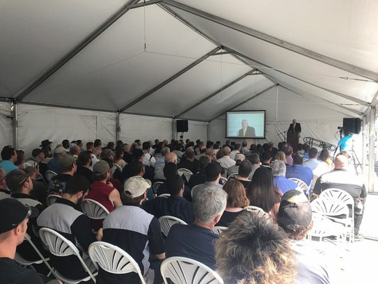 Scores of people attended the Atlas Copco ribbon cutting