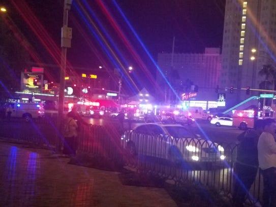 Police response after Las Vegas Shooting.