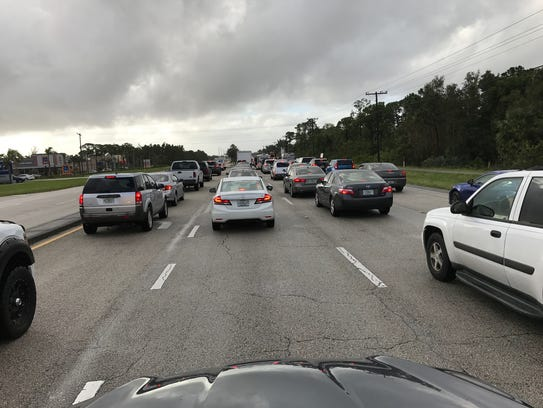 Traffic on U.S. 1, just north of Pomeroy Street in