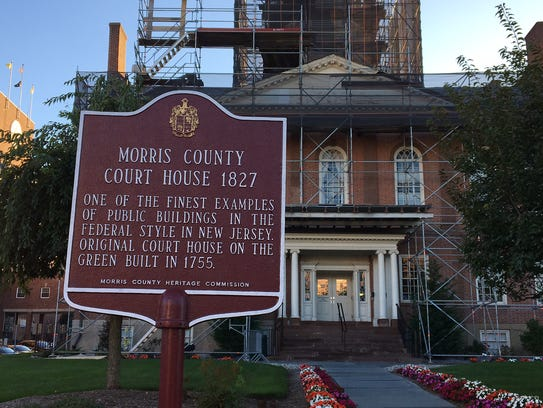 The front of the historic Morris County courthouse