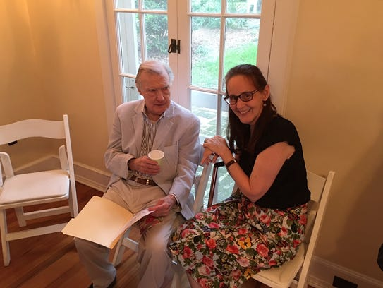 FSU history professor Bill Rogers with former student