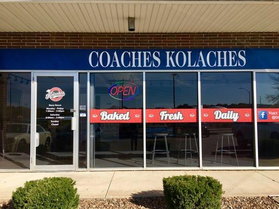 The exterior of Coaches' Kolaches.
