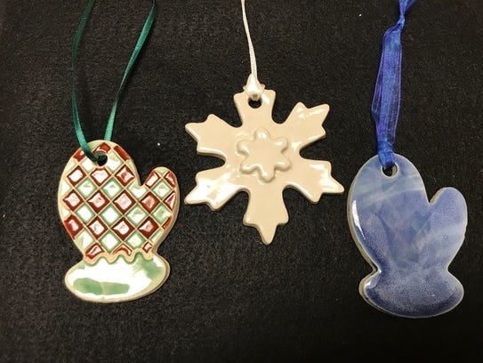 Gallery 16 has a variety of tree ornaments, package