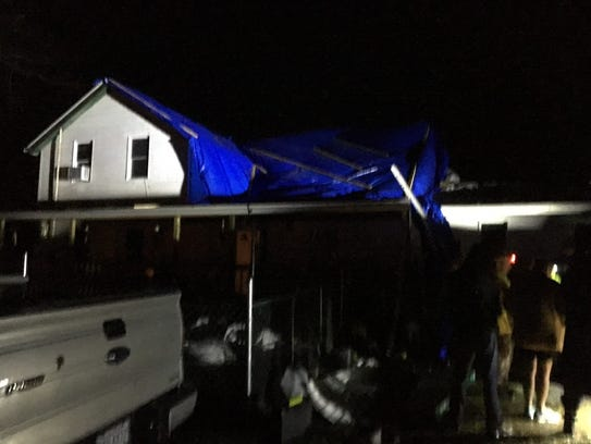 Storm damage in the Hayesville area.