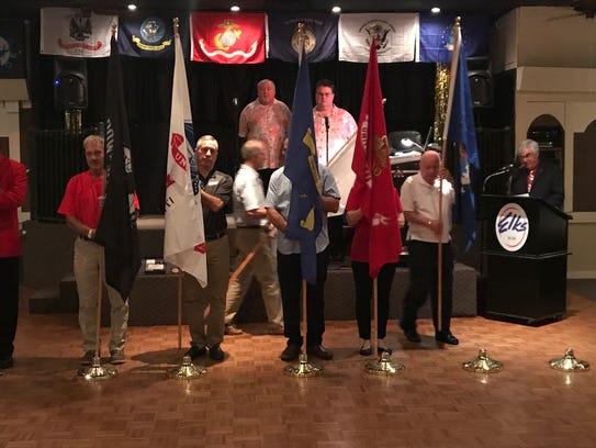 2017-18 Elks Veteran of the Year and emcee Steven Elliott,