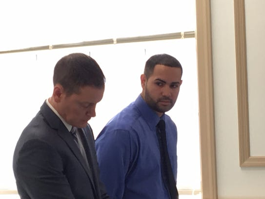 In blue shirt, Lisandro Lorenzo appears with defense