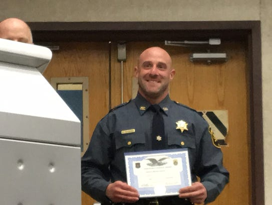 Morris County Sheriff's Officer Mike Carbone was among