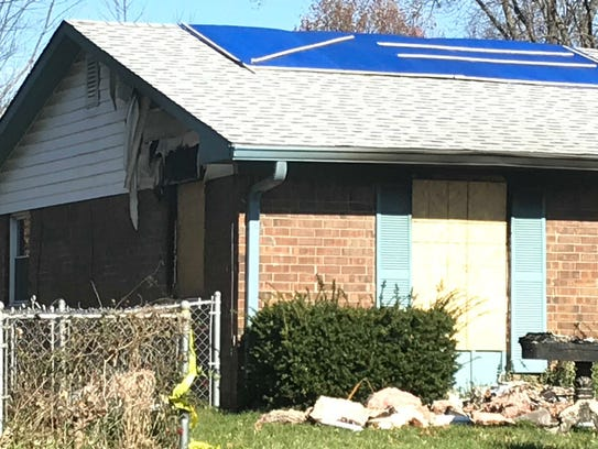 The fire-damaged house of Stephen Brockmann, who died