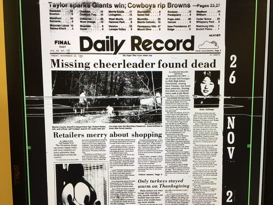 Daily Record front page of Nov. 26, 1982, a day after