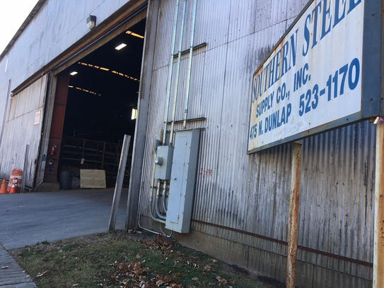 Dondriel Cunningham was fatally shot on the night of Monday, November 27, 2017 near this entrance to Southern Steel Supply Co. north of the Medical District.