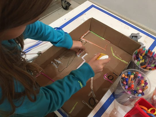 This marble maze is also a great scientific activity,