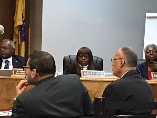 Plainfield City Council members listen to speaker for