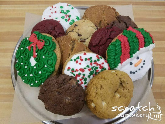 An assortment of cookies from Scratch Cupcakery.