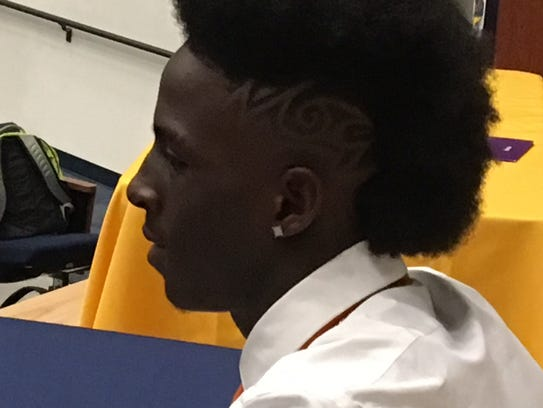 Lehigh's Quan Martin had a new hairstyle for his signing
