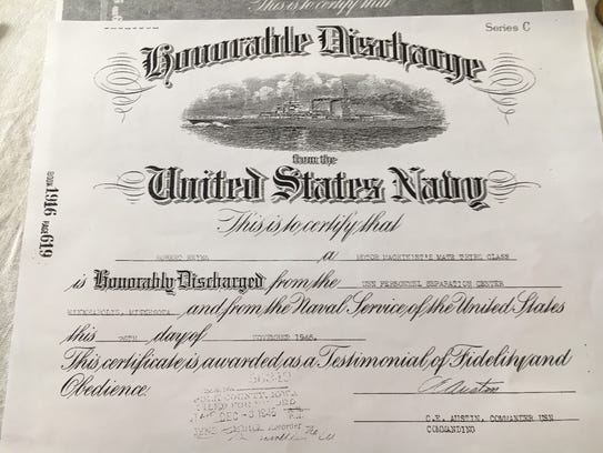 Robert Reyes showed this honorable discharge paper