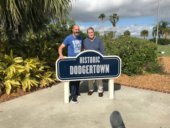 Two Dodger of the greats in Dodger history, Kirk Gibson