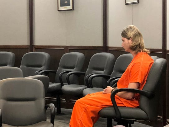 Dacota Deaver, 22, awaits his hearing in a Nueces County courtroom. He is charged in the Oct. 24, 2017, crash that killed Cecilia Stanford, the sister of Nueces County Clerk Kara Sands.