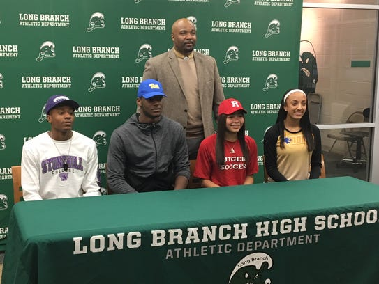Long Branch athletes gather on Signing Day, including