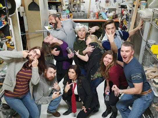 """Backdoor Theatre Improv Troupe will host """"An Evening of Improv,"""" 6:30 p.m. Jun 1. 18 & up. $12 advance ticket. Backdoor Theatre Dinner Stage, 501 Indiana. 322-5000."""