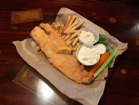 Fried fish and chips is on special Fridays at Anchor