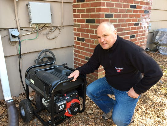 Oyvind Vataker with his generator at home in Morris