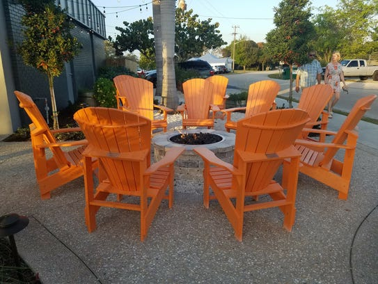 District Table's fire pit at 4665 SE Dixie Highway