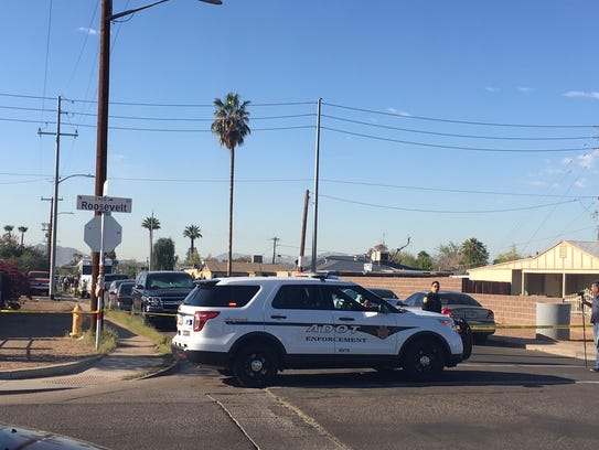 29th and Roosevelt, at the scene of an officer-involved shooting that took place at a residence near 29th Avenue and Garfield Street.