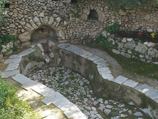 Winepress in 'The Garden Tomb' complex.