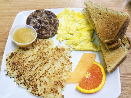 Heritage Restaurant's Sunny Breakfast with free coffee