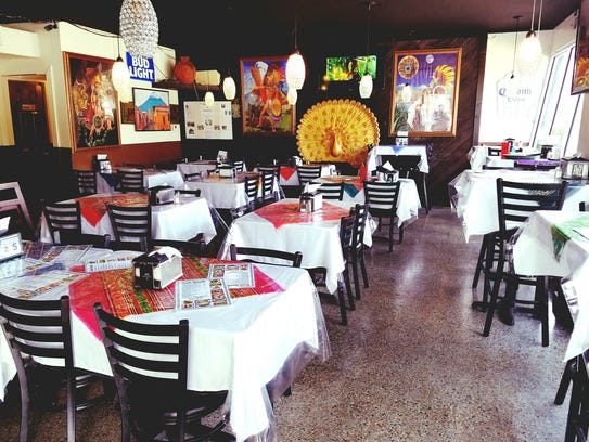 Guatemex Restaurant is colorful and playfully decorated.