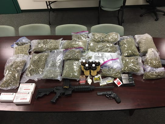 Drugs and other items found after a search warrant
