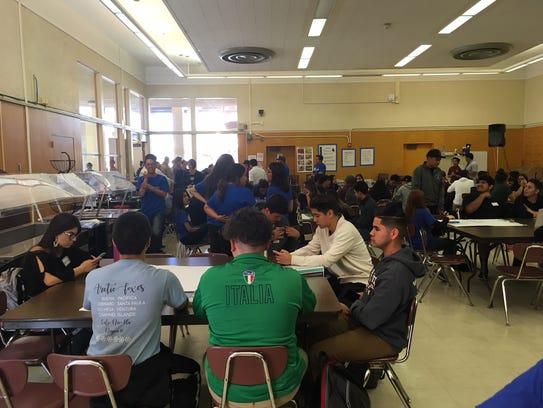 Students gathered Thursday in Santa Paula to discuss