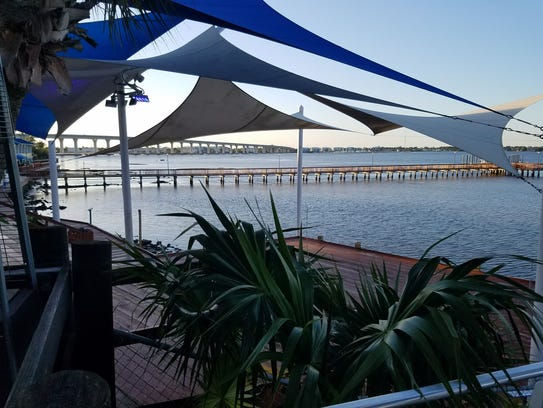 The Stuart Boathouse view. The restaurant is at 49