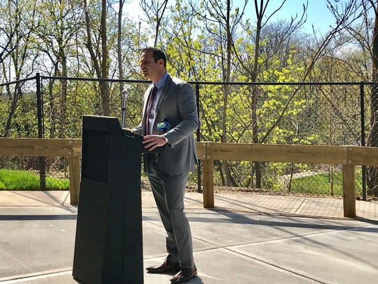 Rahway Mayor Raymond A. Giacobbe speaks about the positive
