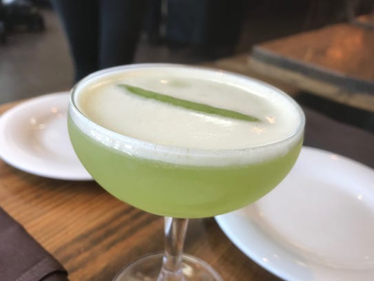 The refreshing Make It Snapea cocktail at End of Elm in Morristown.