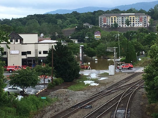 Biltmore Village sees flooding from heavy rain, brought