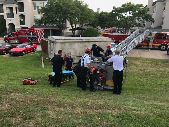 Bossier Firefighters and paramedics rescued a man having