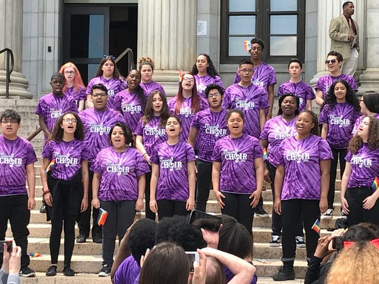 Students from Thomas Jefferson Arts Academy Acapella
