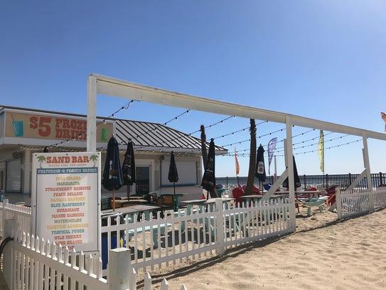 At Sand Bar in Seaside Park, enjoy a frozen drink on