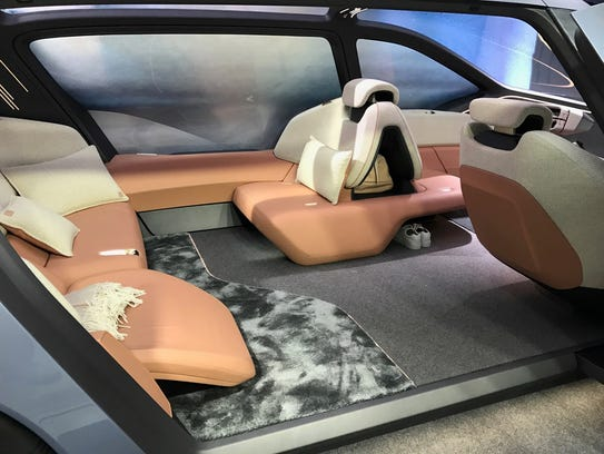 this electric luxury car lets you snooze while it zooms. Black Bedroom Furniture Sets. Home Design Ideas