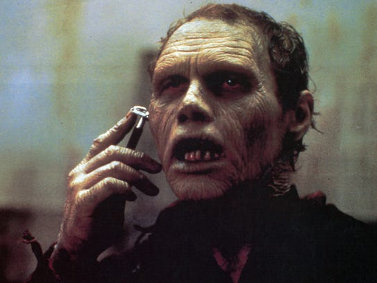 A zombie learns to shave in 1985's 'Day of the Dead.'