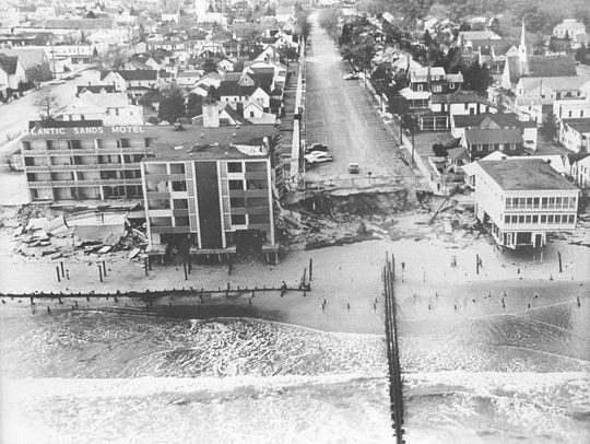 Rehoboth storm damage in 1962.