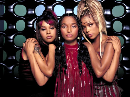 Lisa 'Left Eye' Lopes, left, Rozonda 'Chilli' Thomas