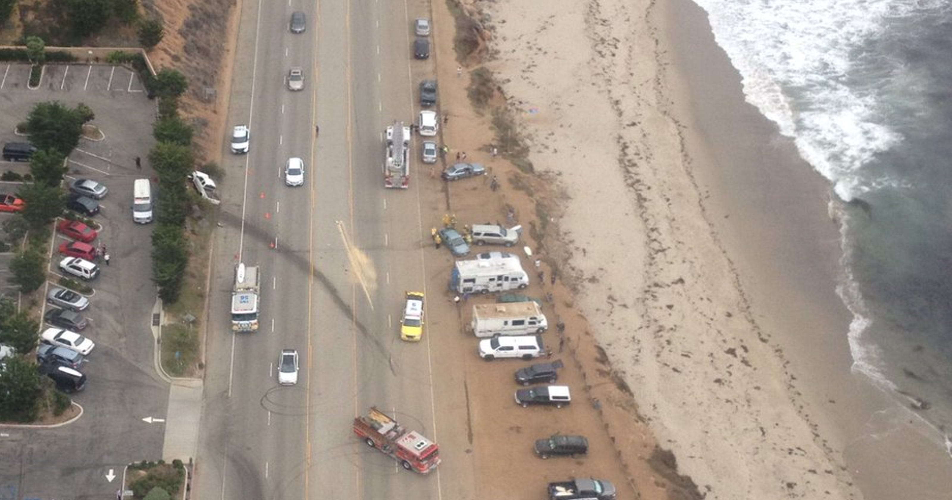 Pacific Coast Highway accident leaves three people injured