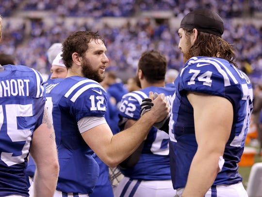 Indianapolis Colts quarterback Andrew Luck (12) and