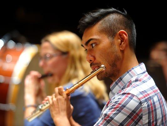 Flutist Norman Gonzales