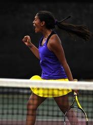 Wylie's Shruti Patel celebrates after winning a point
