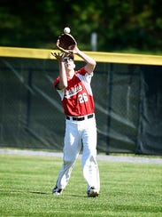 Annville-Cleona rightfielder Tyler Schrader records
