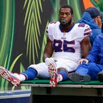 Bills tight end Charles Clay will miss substantial playing time with knee injury