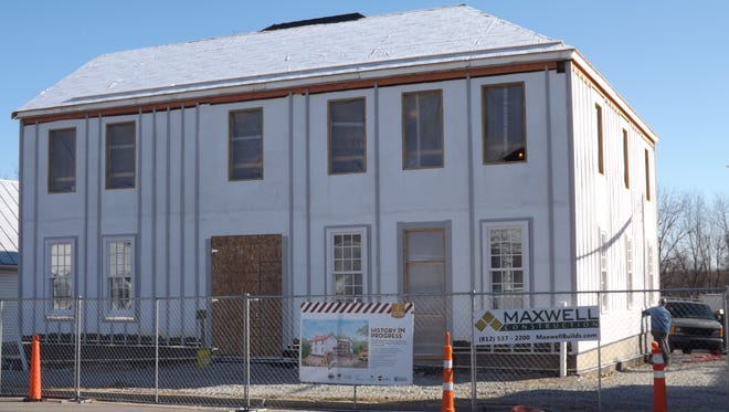 Construction continues on the new interpretive center next door to the Levi Coffin House in Fountain City.